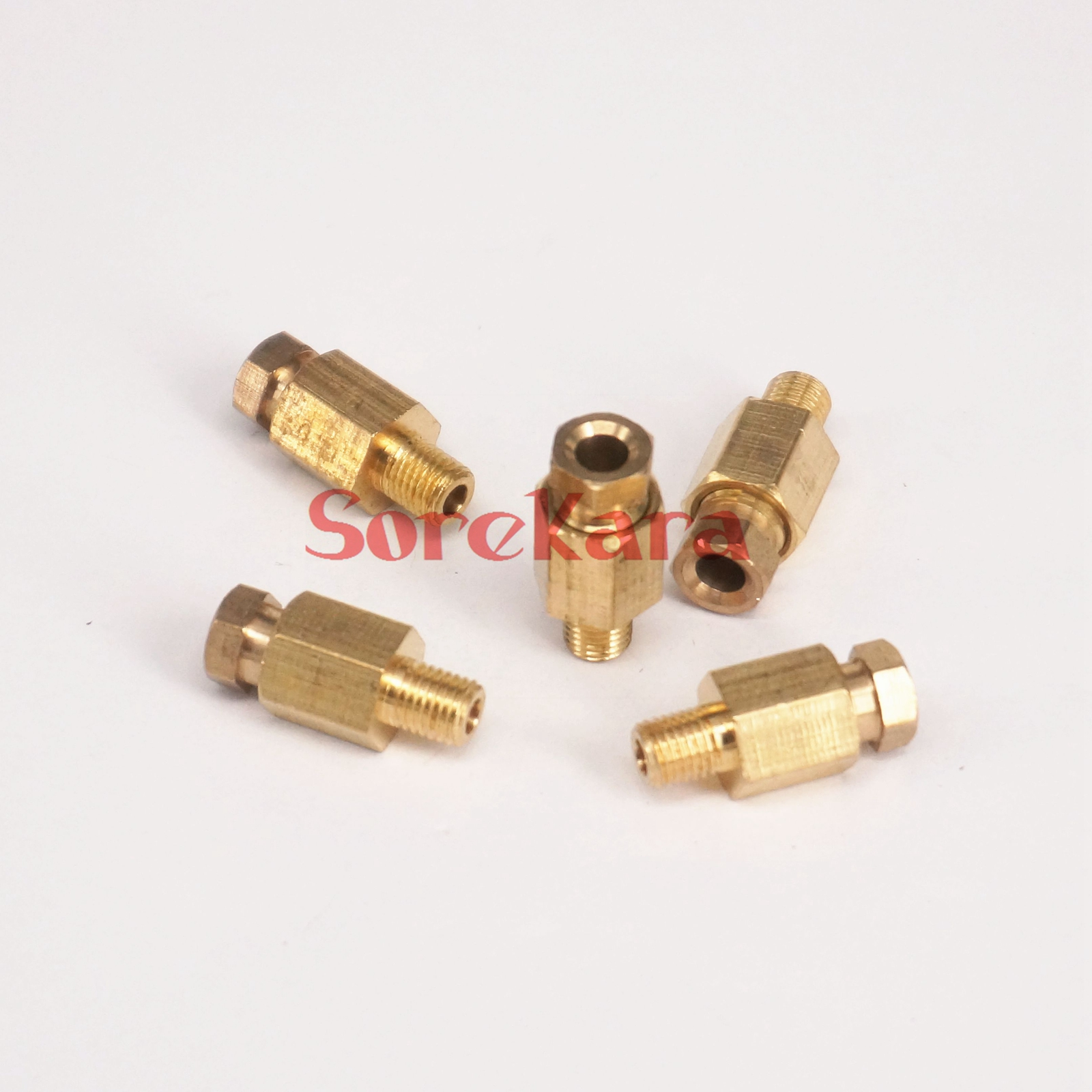 """5pcs 1//8/"""" 1//4/"""" BSP Male 4-8mm OD Tube ELbow Fitting Machine Oil Filter Canister"""