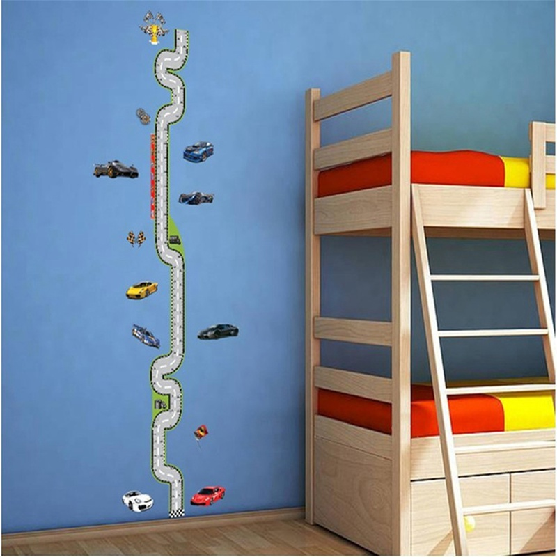 Wall Art Hanging Height : Kids growth chart height measure wall stickers for