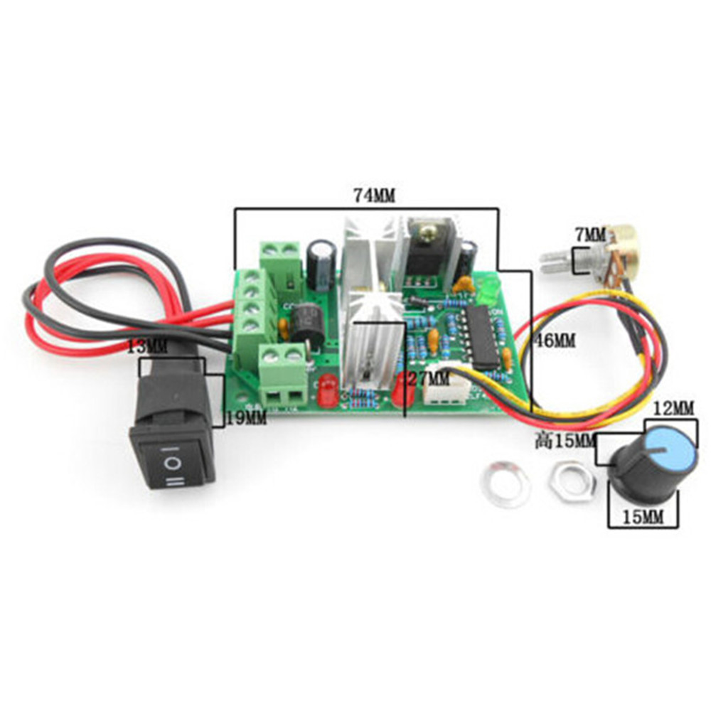 10 36v Dc Motor Speed Controller Reversible Pwm Control Forward And Reverse Circuit Switch