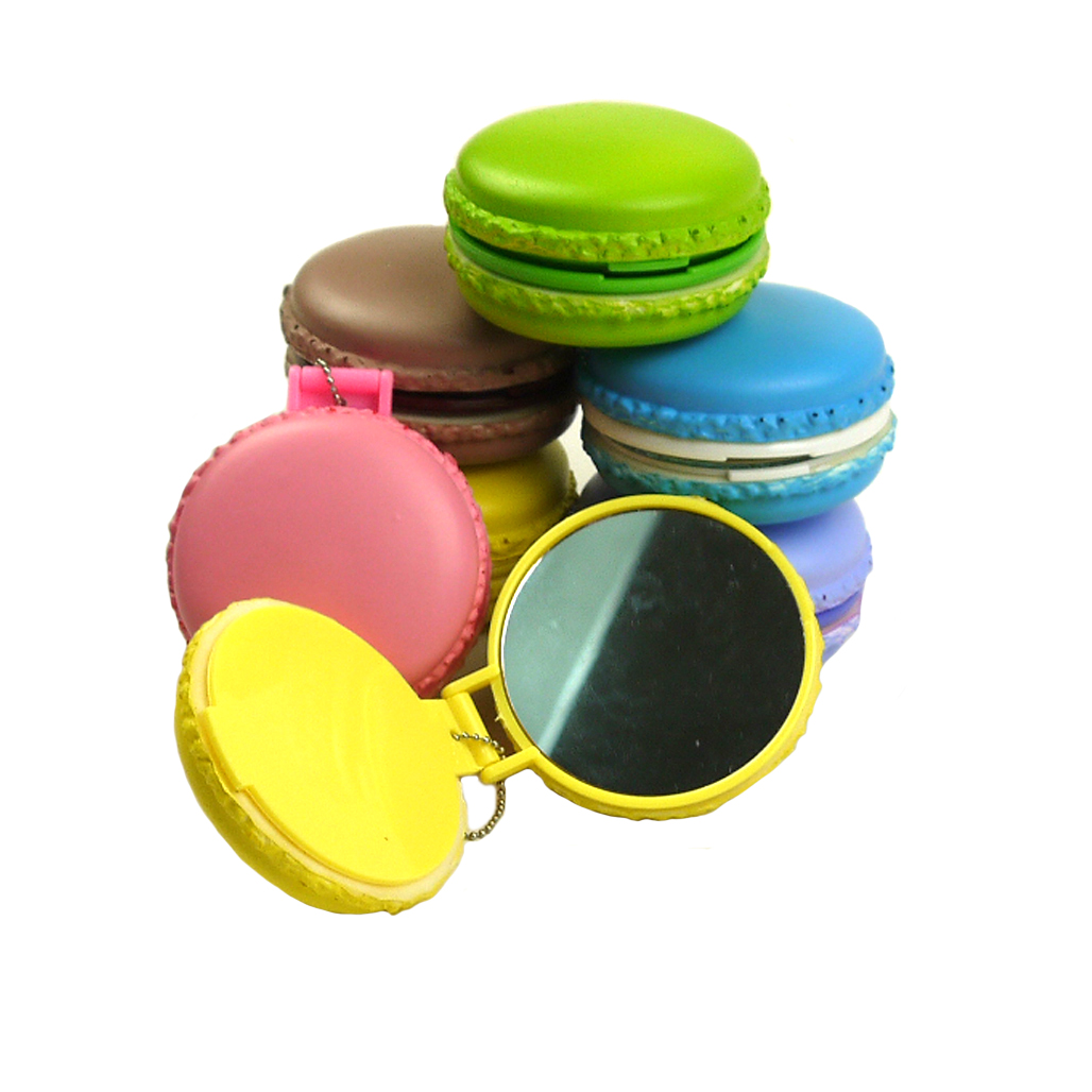 Squishy Ball Bracelet : 3pcs Color Faux Macaron Soft Squishy Pocket Face Compact Mirror Phone Chain Gift eBay