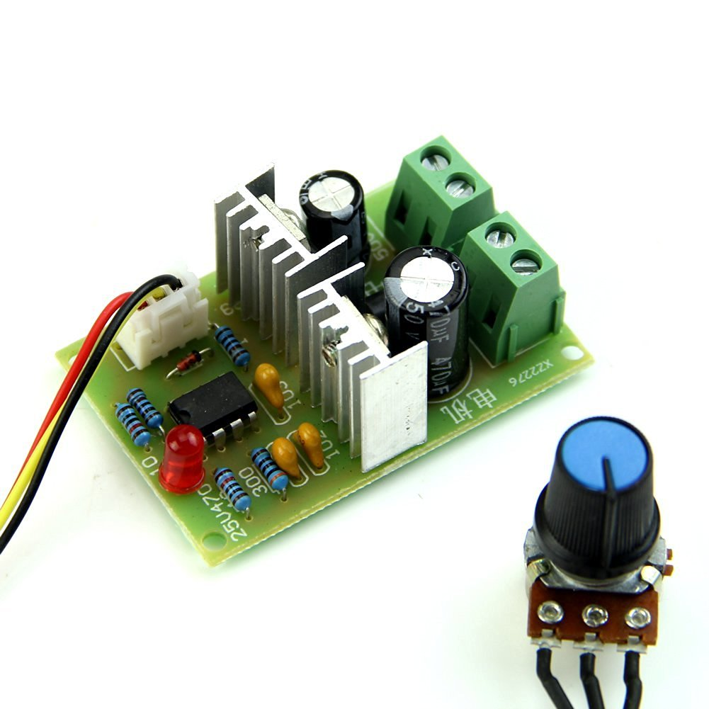Top 12v 36v 3a dc motor speed control pwm hho rc for 12v dc motor controller