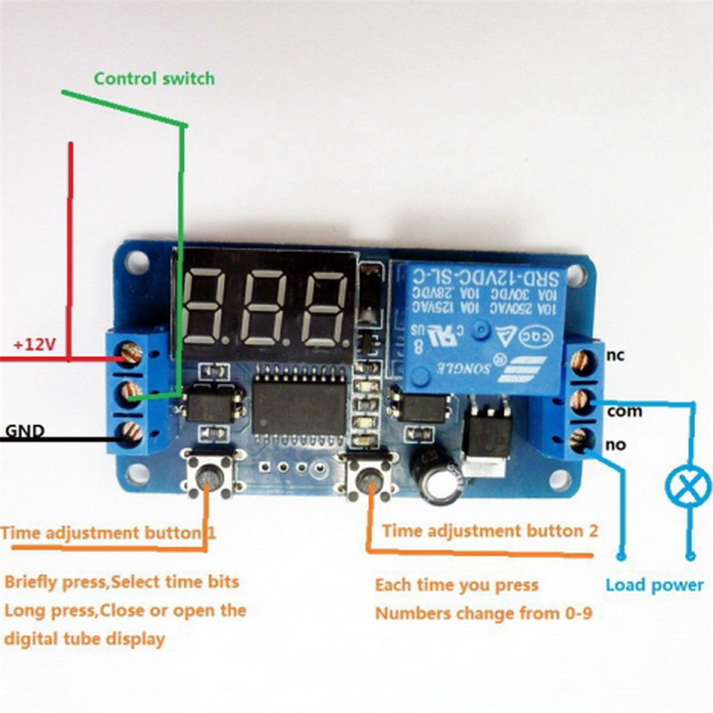 12v Timer Switch Controller Wiring Diagram 48 By Triac 2n6075 And Lm555lm358 Electronic Projects Circuits D7a42c57f9947a98 Led Display Delay Control Buzzer Module 2 3 At