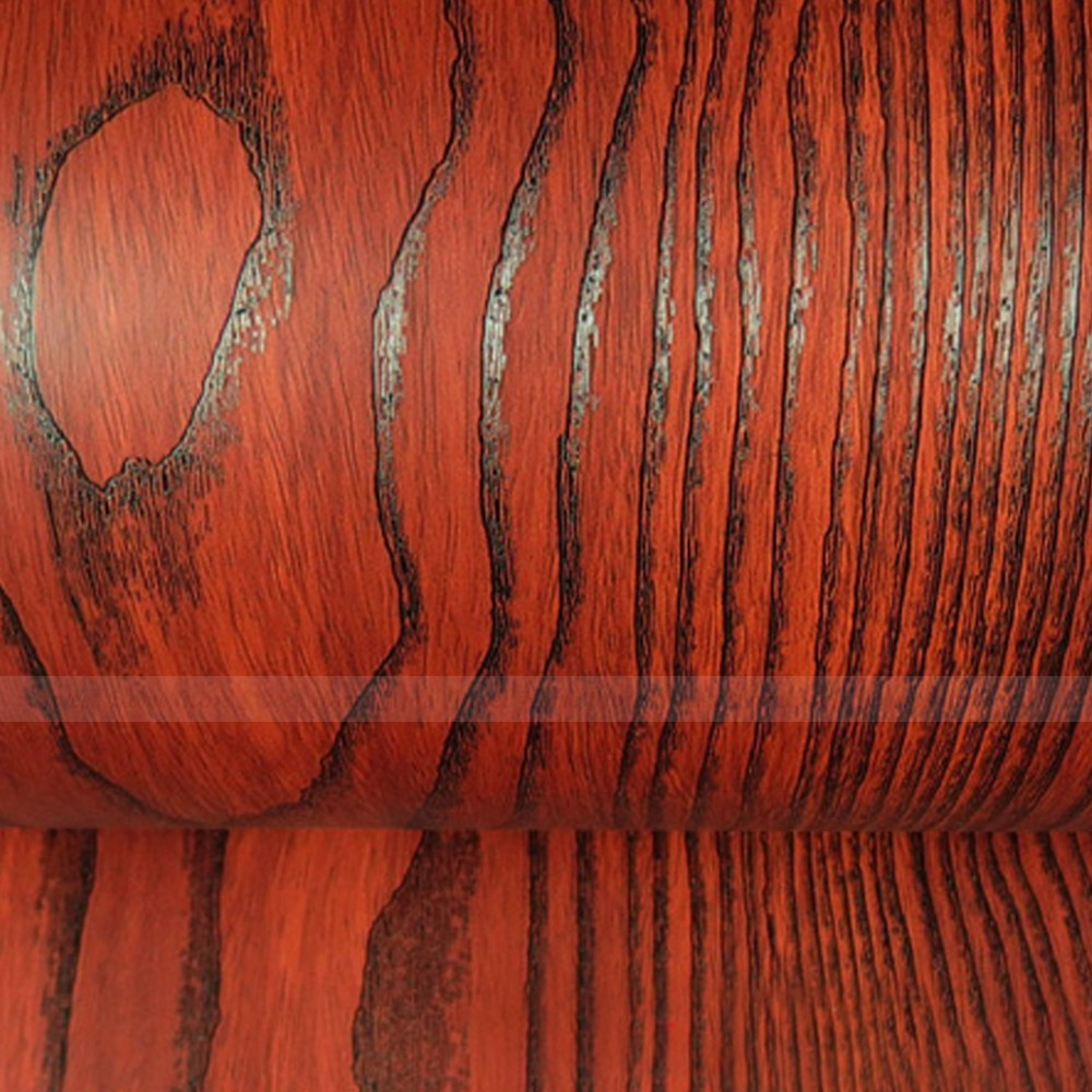 Wood Grain Vinyl Self Adhesive Wardrobe Cover Contact
