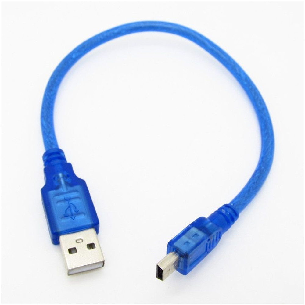 10pcs Blue 3FT USB 2.0 Type A Male to Mini B Male Data Charging Cable for Camera