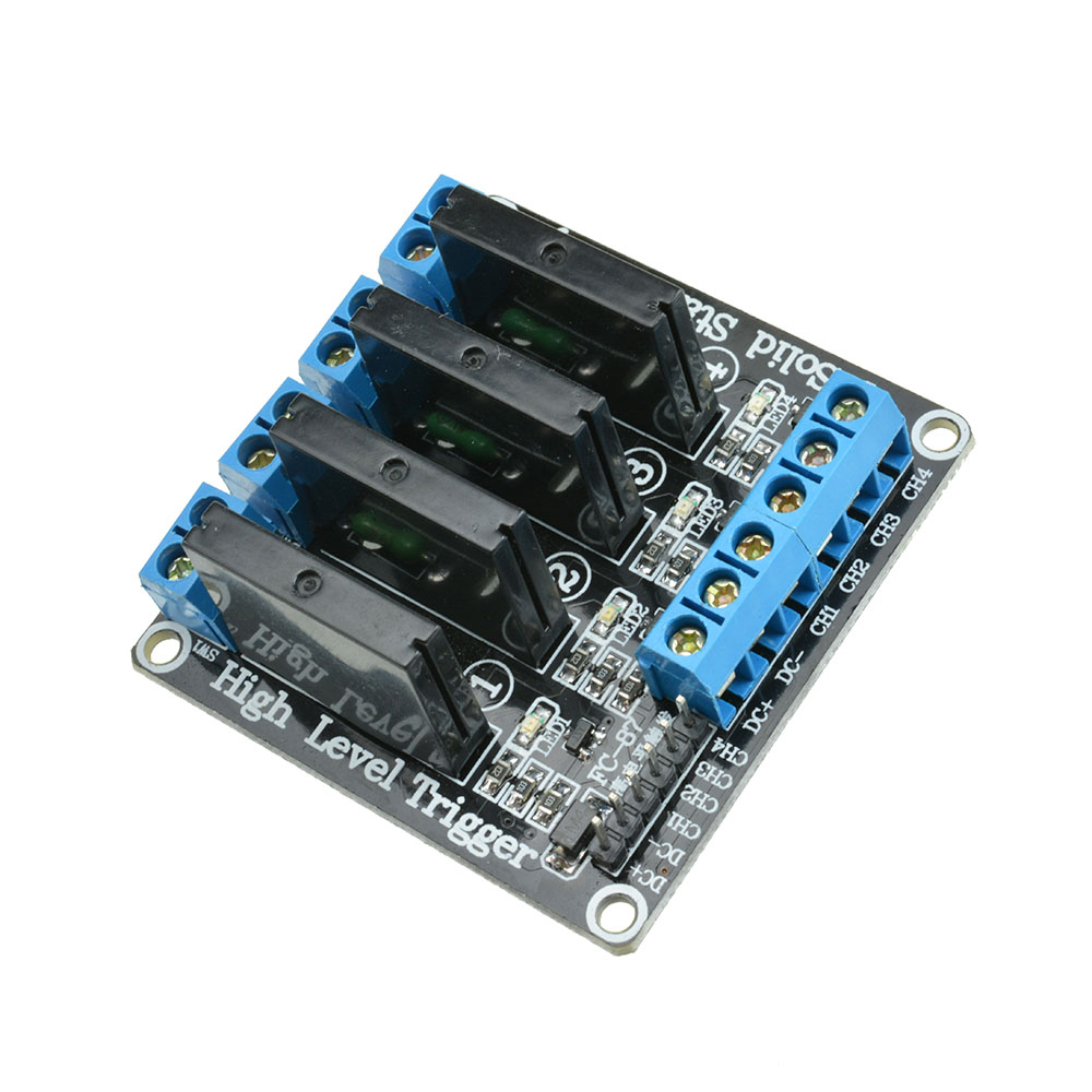 5v 4 Channel Ssr Solid State Relay Module With Fuse For Arduino Uno Is Actually Not A At Mega2560 R3