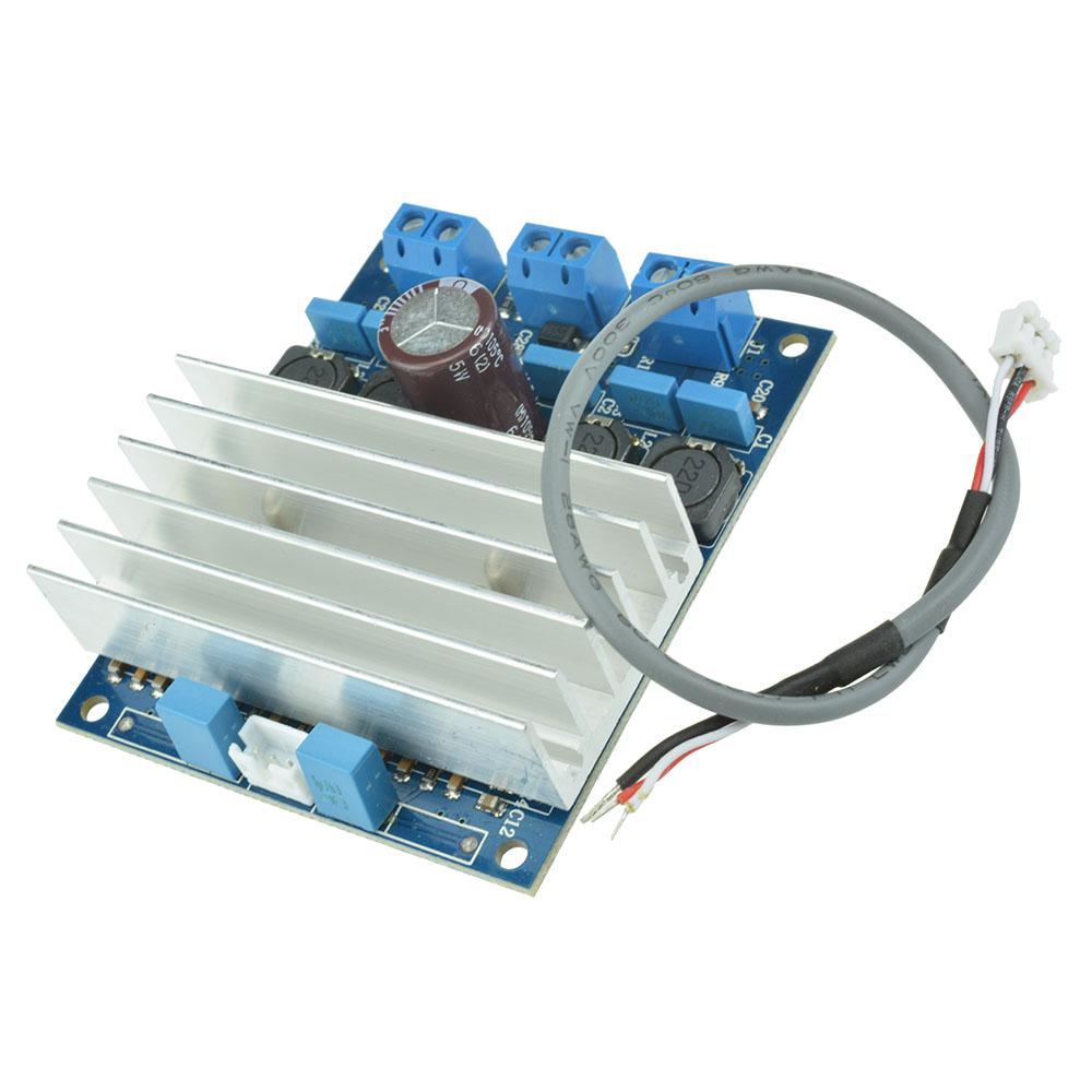 2 X 50w Tda7492 D Class High Power Digital Amplifier Board Amp Audio Circuit Blue Silver Radiator