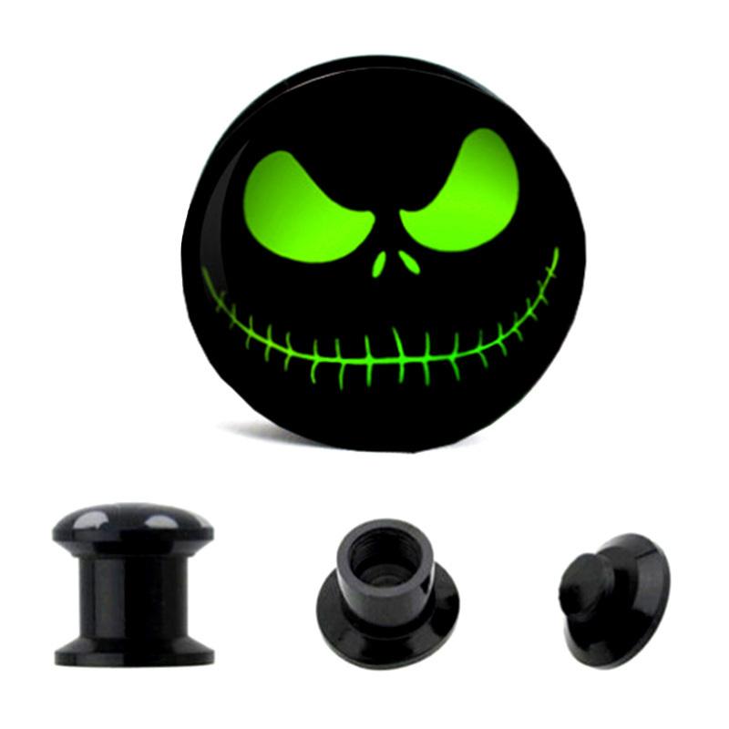 1 paire yeux fant me cr ne ecarteur oreille ear plug taper flesh tunnel expander ebay. Black Bedroom Furniture Sets. Home Design Ideas