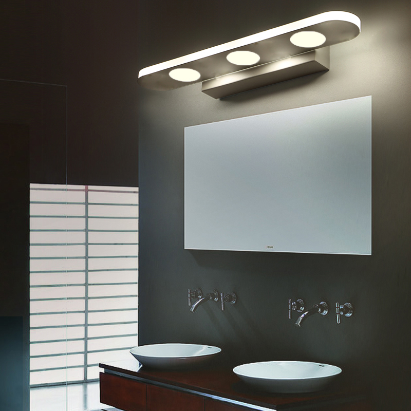 spiegelleuchte 9w led badezimmer wandleuchte schranklampe warmwei spiegellampe ebay. Black Bedroom Furniture Sets. Home Design Ideas