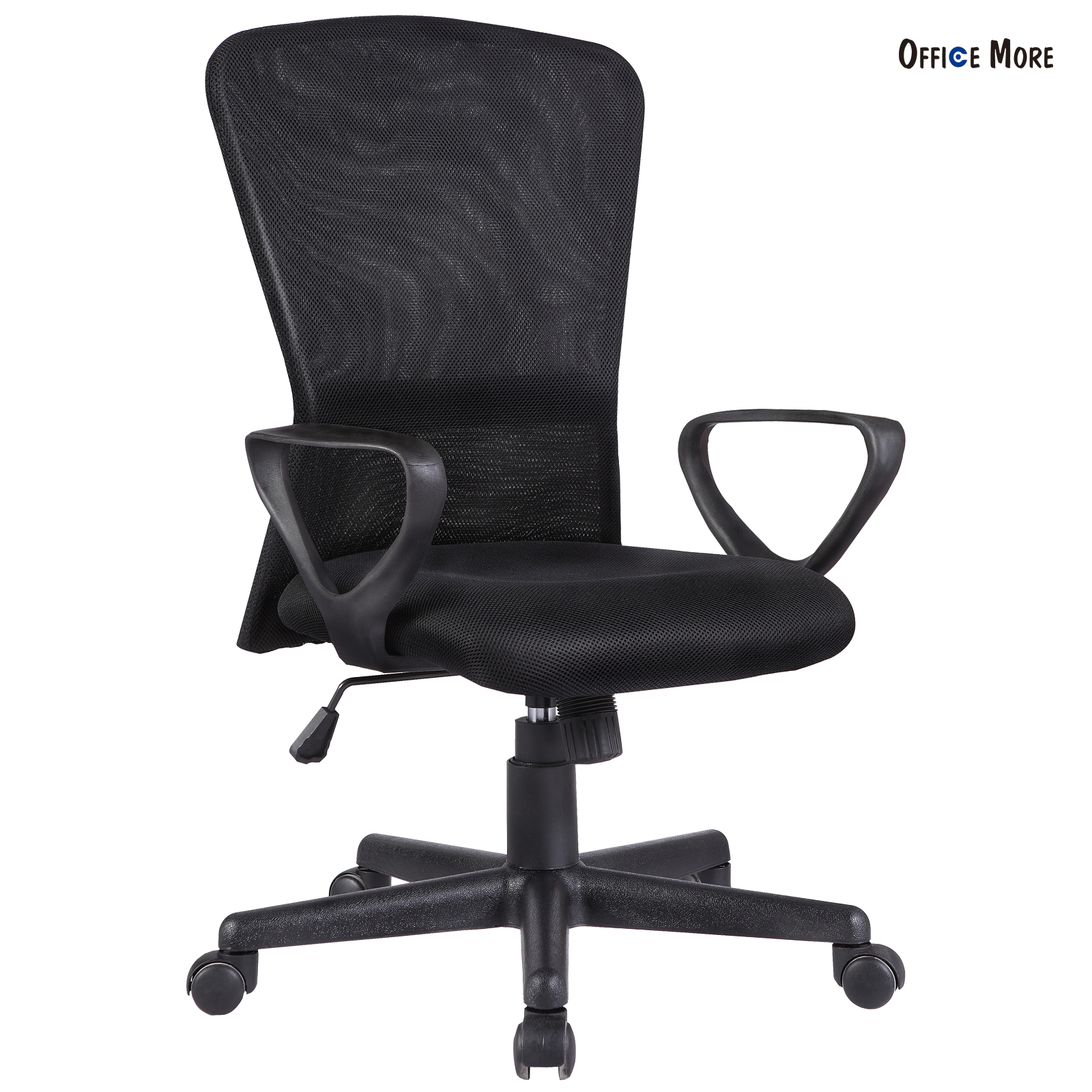 ergonomic executive swivel mid back office chair computer. Black Bedroom Furniture Sets. Home Design Ideas