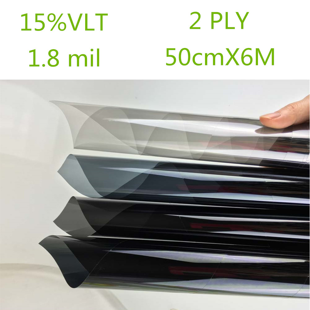 Car black car home glass window tint film and shade roll for 2 ply window tint film