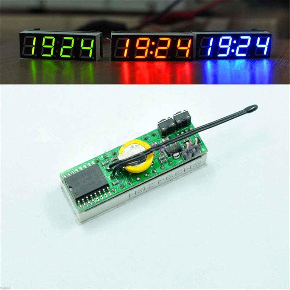 Ds3231sn 3 In 1 Led Digital Clock Temperature Voltage Module Diy Using Pic Microcontroller Electronic Red