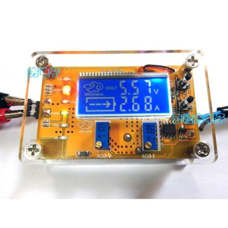 Hot DC-DC step-down power supply adjustable push-button module with LCD display