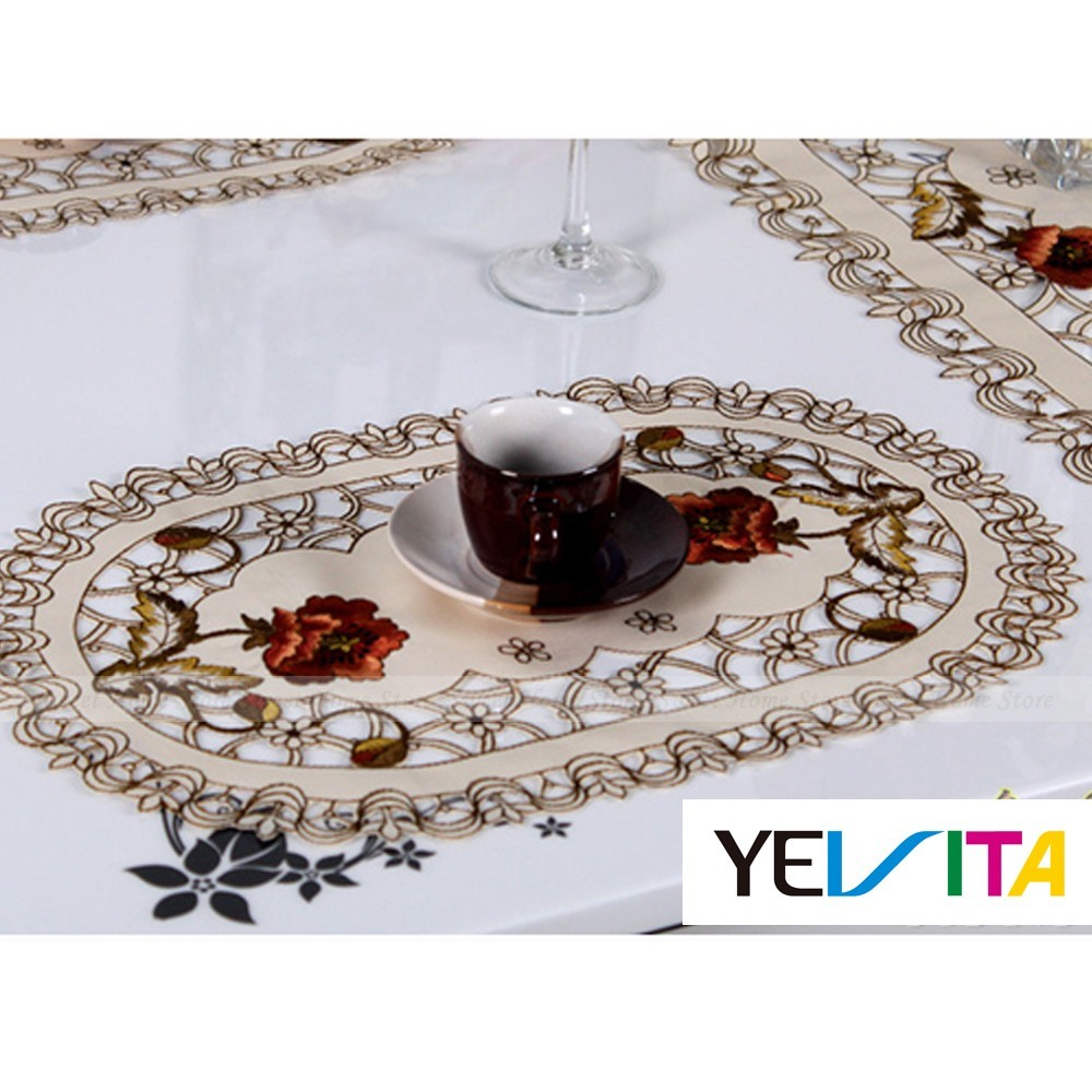 4pcs Embroidered Flower Cutwork Table Placemats Oval Doily  : a5635215dd9b1b95 from www.ebay.com size 1000 x 1000 jpeg 194kB