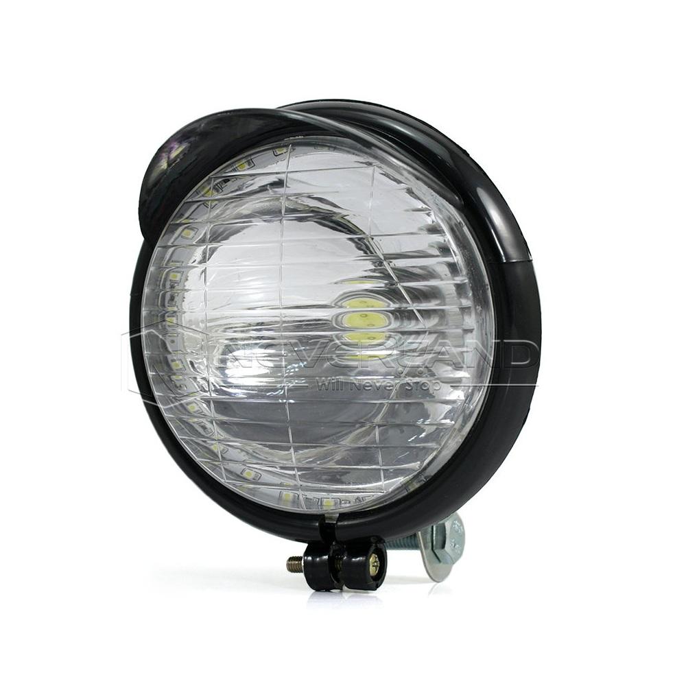 paar 5 motorrad led nebelscheinwerfer scheinwerfer lampen f r harley schwarz ebay. Black Bedroom Furniture Sets. Home Design Ideas