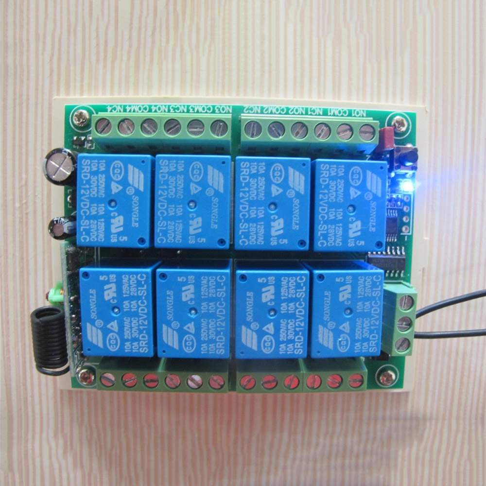 Dc 12v 8ch Channel Relay Rf Switch 1000m Remote Control