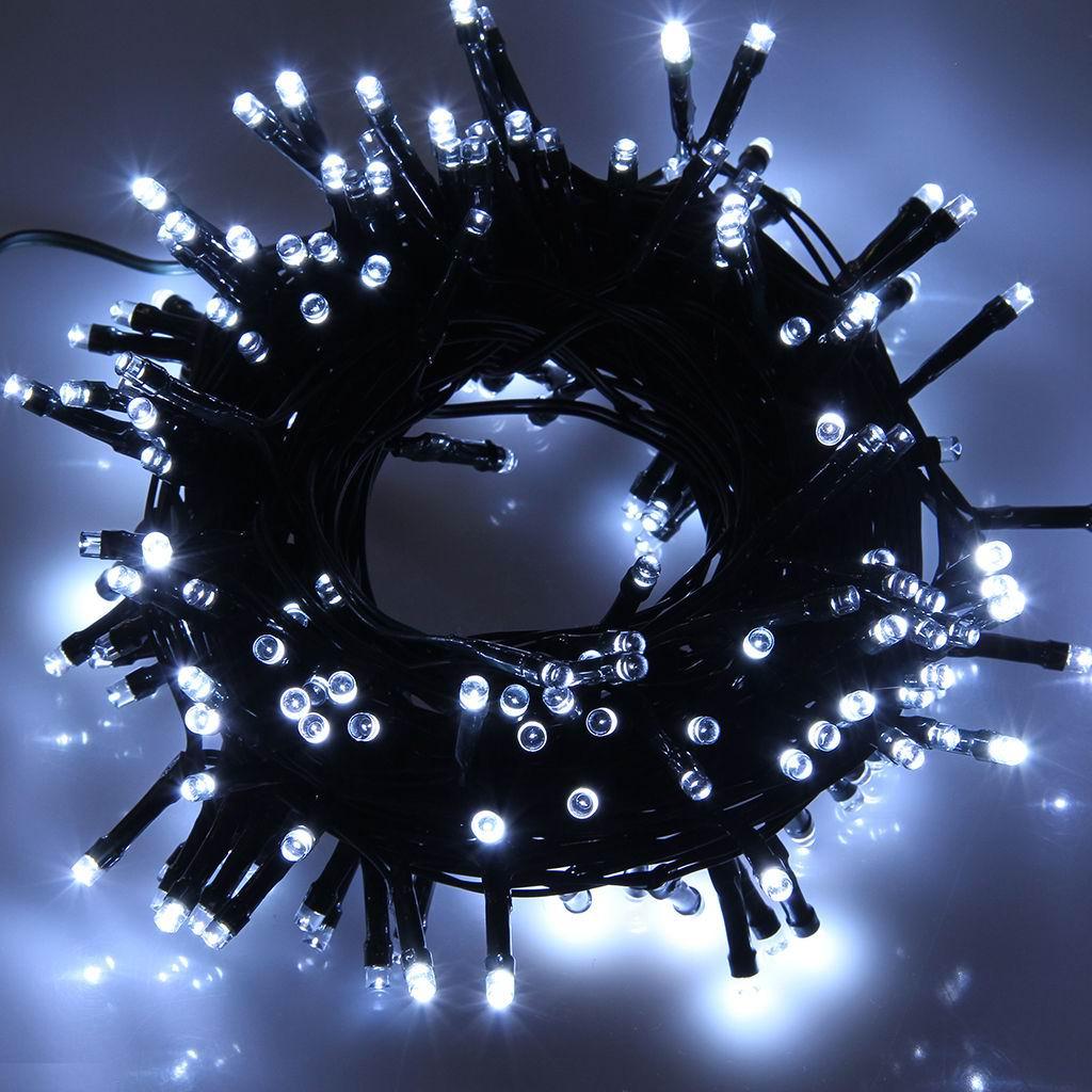 10m led lichterkette deko beleuchtung kette wei fest weihnachten nicht solar ebay. Black Bedroom Furniture Sets. Home Design Ideas