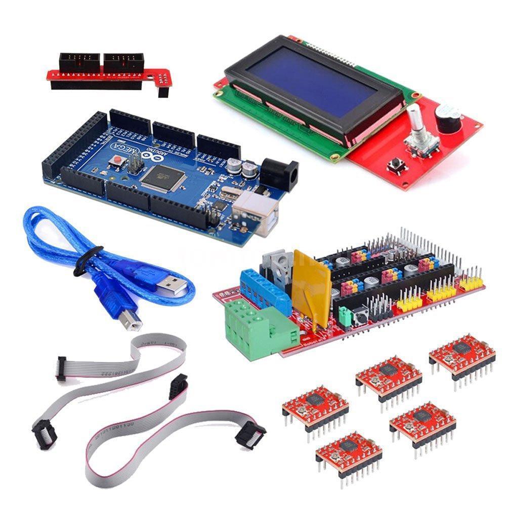 MEGA2560,RAMPS1.4 3D PRINTER BOARD /& 5PCS-DRV8825 /& LCD2004 SMART DISPLAY USA!