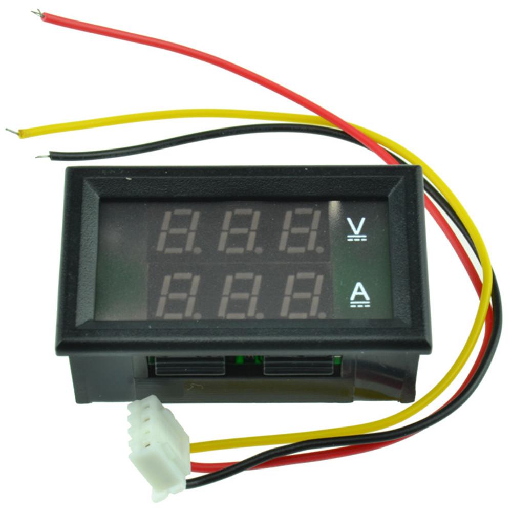 Line Powered Digital Voltmeter : Dc v a dual led digital volt meter ammeter
