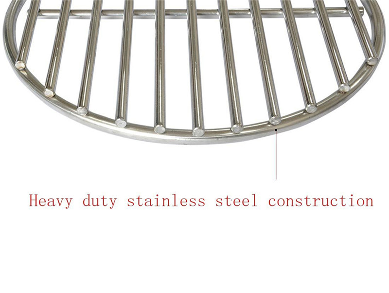 Stainless Steel Fireplace Grate 6 Bar Fireplace Grate In Stainless Steel 27 Inches