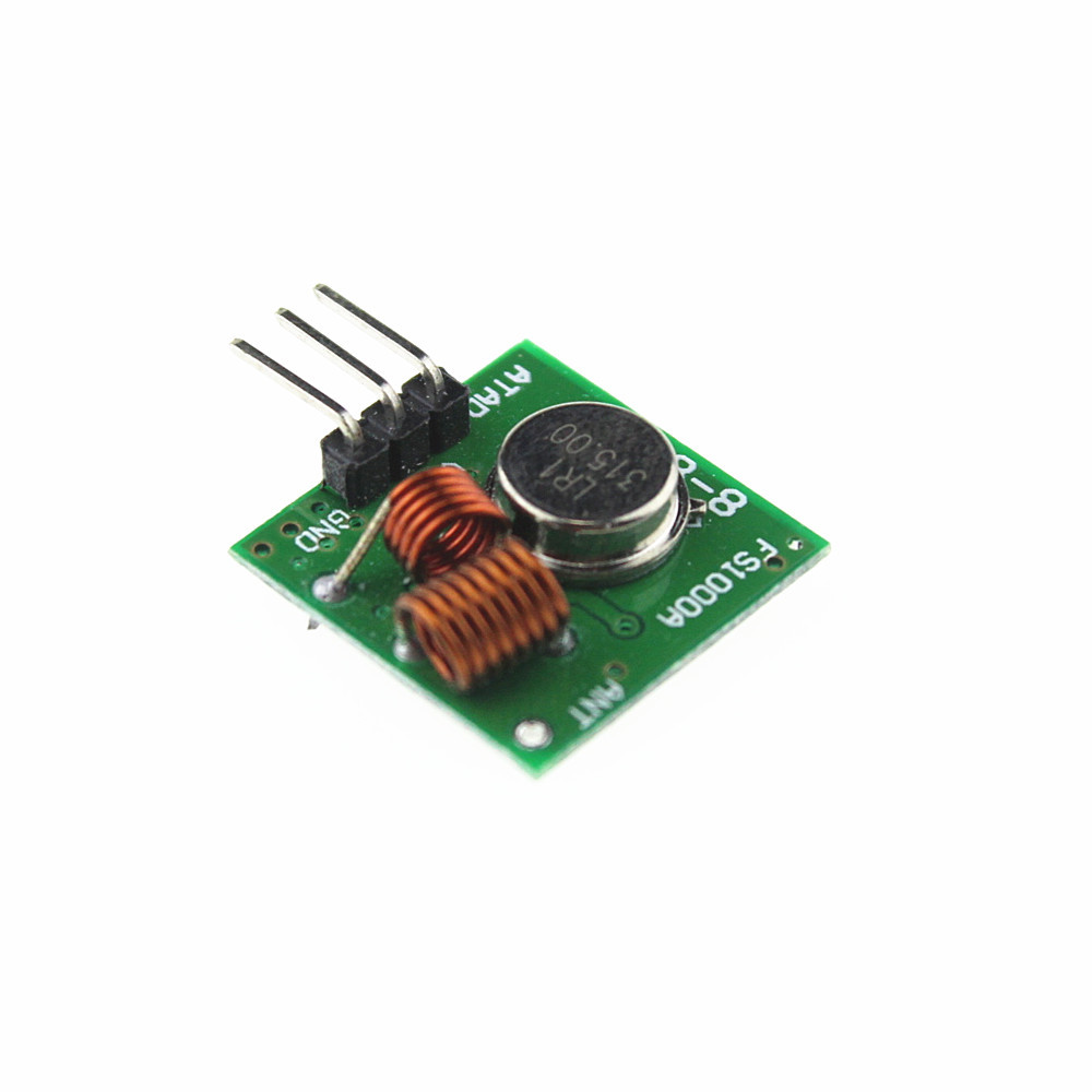 Mhz rf transmitter and receiver kit module for arduino