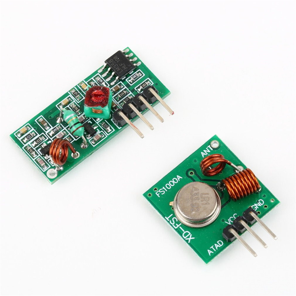 1 5pcs 315 433 Mhz Rf Transmitter And Receiver Module Arduino 433mhz 4 Channel Circuit Cy046 Buy Wireless Remote Ebay