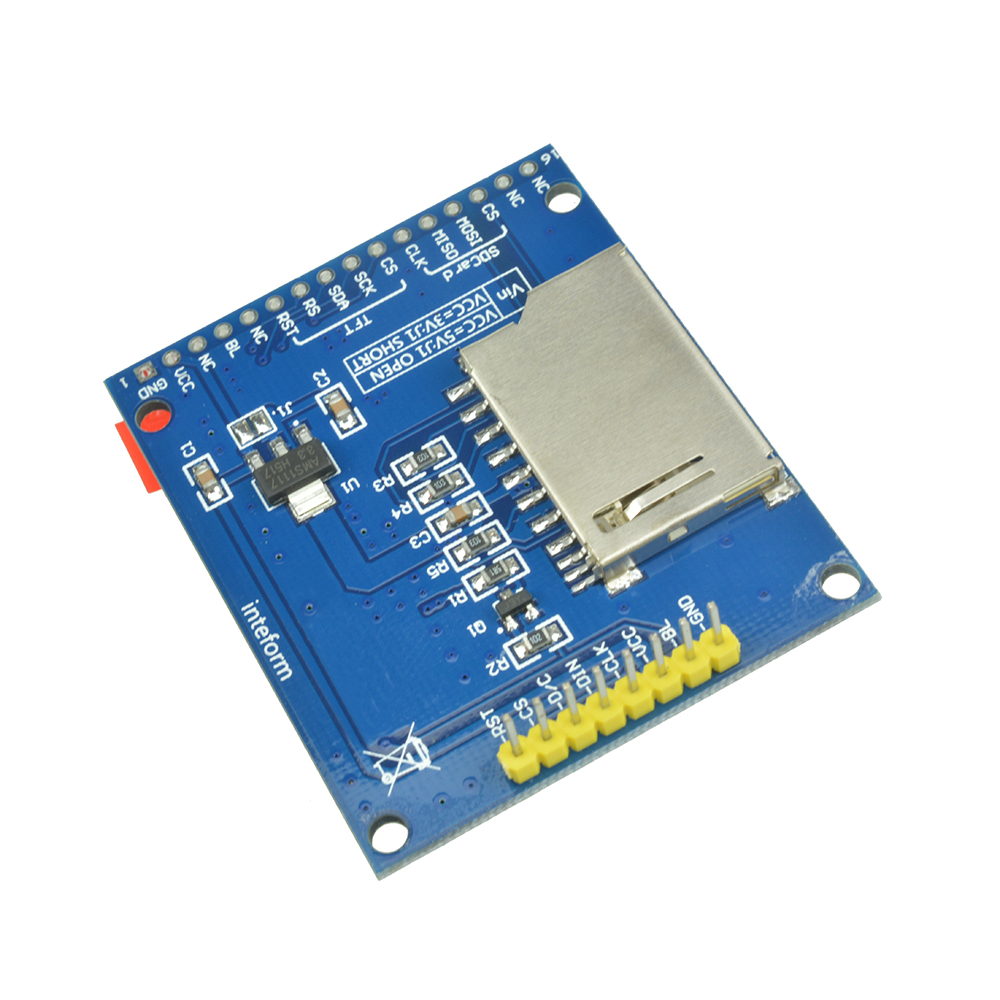 1.8'' Inch Mini Serial SPI TFT LCD Module Display with PCB Adapter ST7735B IC SD