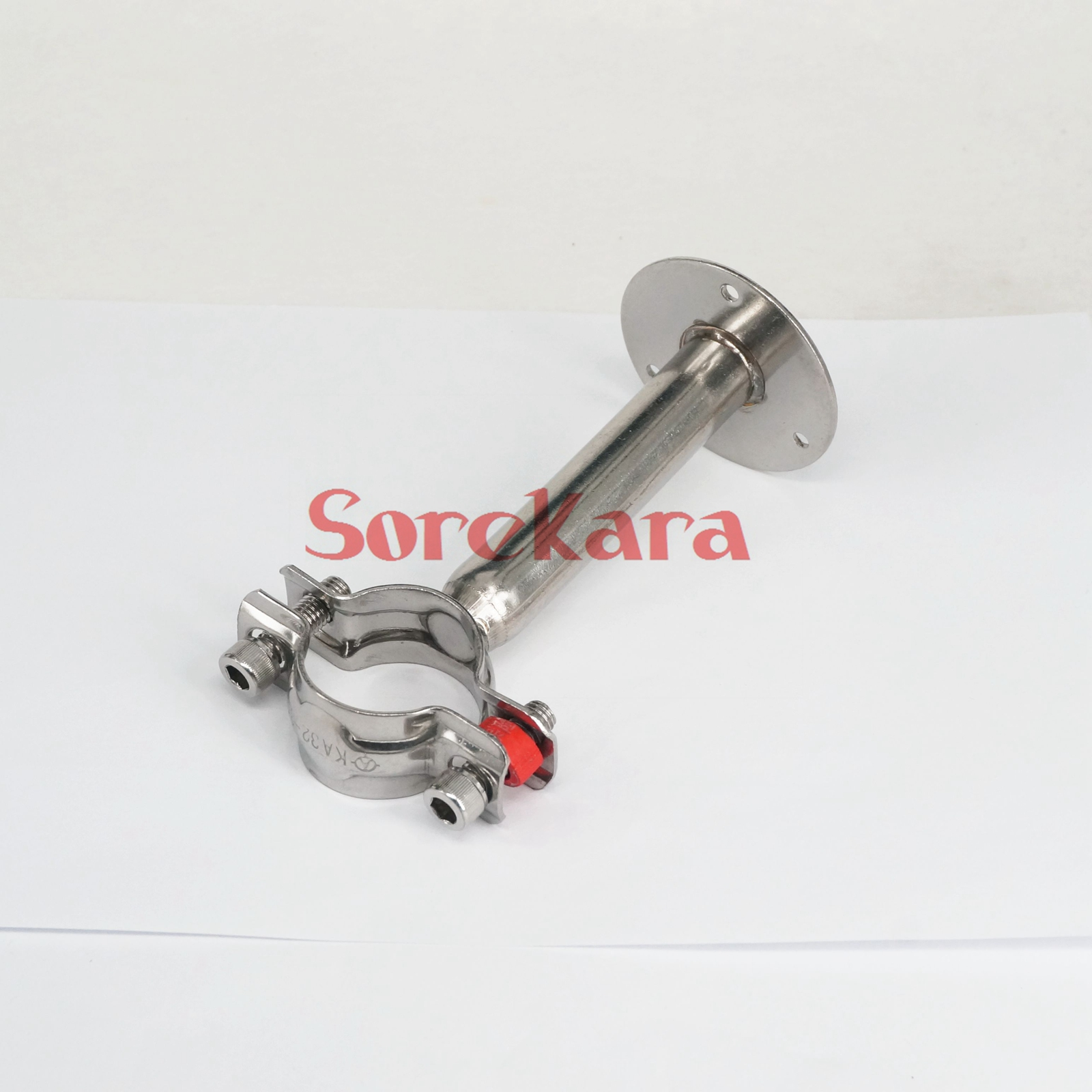 Multiple stainless steel pipe clamp clip support bracket