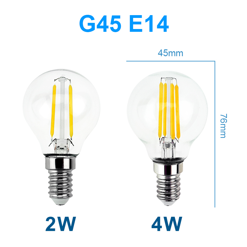 2w 4w 6w vintage edison led filament light bulb g45 lamp e14 e27 warm cool white ebay. Black Bedroom Furniture Sets. Home Design Ideas