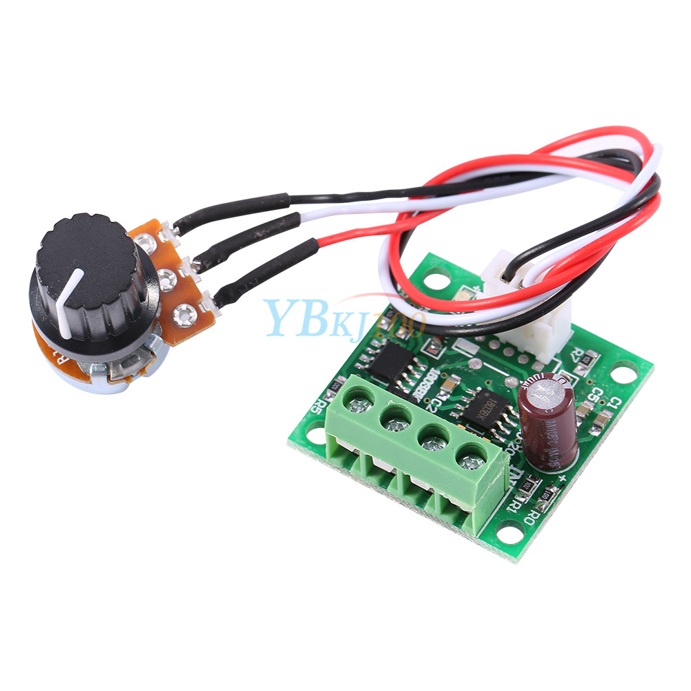 Low voltage 1 8v 15v 2a pwm dc motor speed controller for Two speed motor control