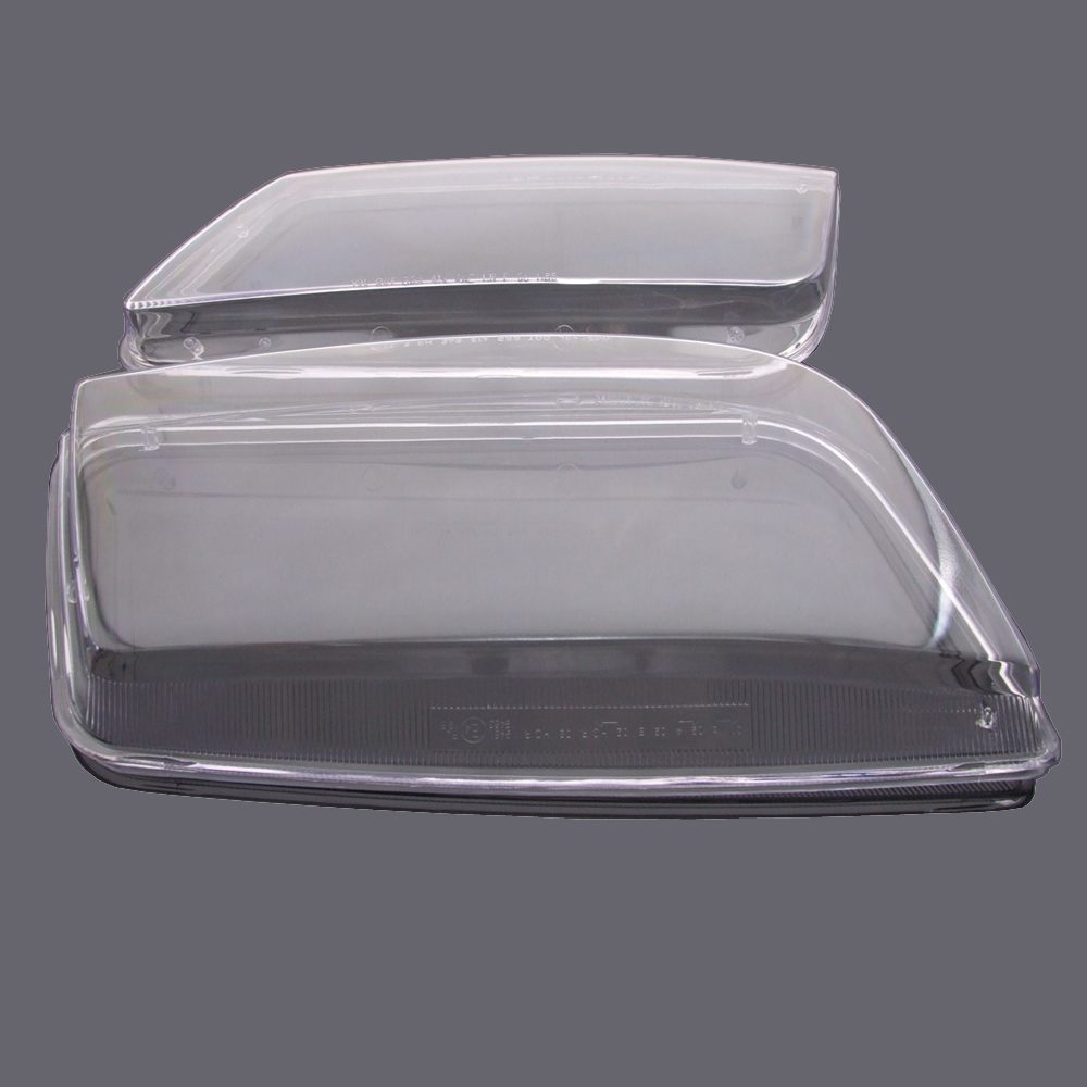 New Replacement Pair Plastic Headlight Lenses Covers Fit