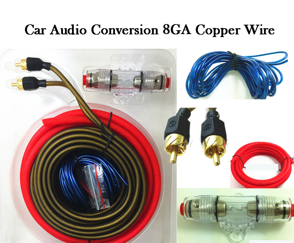 car audio subwoofer wiring car audio wire kit 8ga power cable fuse holder subwoofer ...