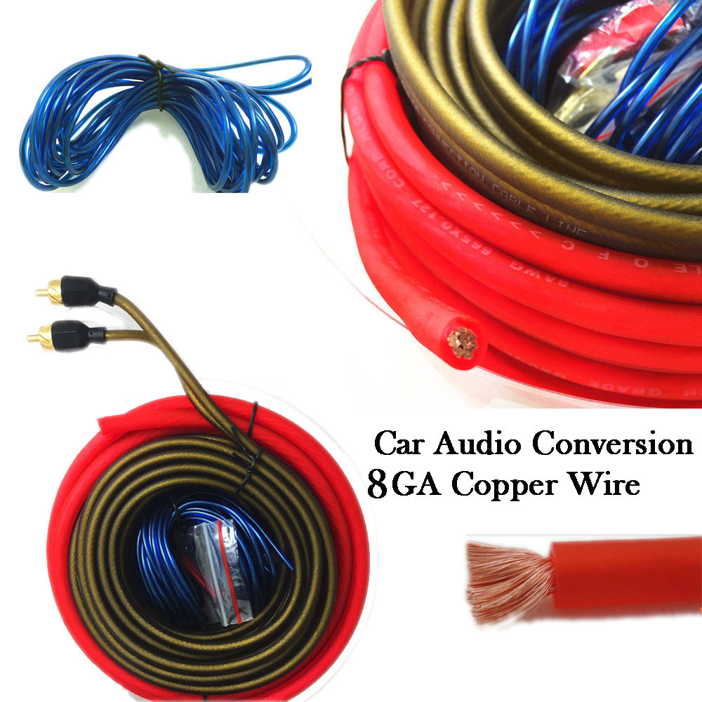 8ga Car Audio Subwoofer Amplifier Amp Wiring Rca Ruse Cable Kit Ebay