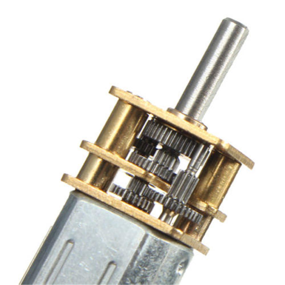6 12v 300 600 30rpm mini dc metal gear motor with for Mini gear motor dc
