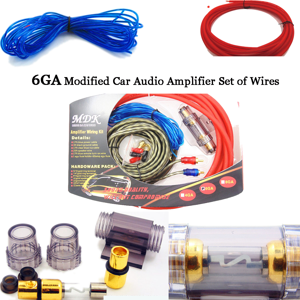 6ga Car Power Subwoofer Amplifier Speaker Installation Audio Wire Kit Images Of Lifier On Speakers Wiring Categories Cable