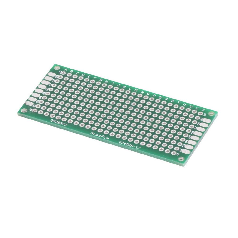 10Pcs Double Side Prototype PCB Bread board Tinned Universal 3x7 cm 30x70 mm