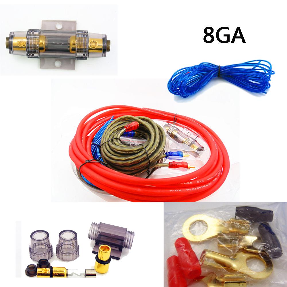 car audio subwoofer amplifier amp wiring 1500w 8ga fuse. Black Bedroom Furniture Sets. Home Design Ideas