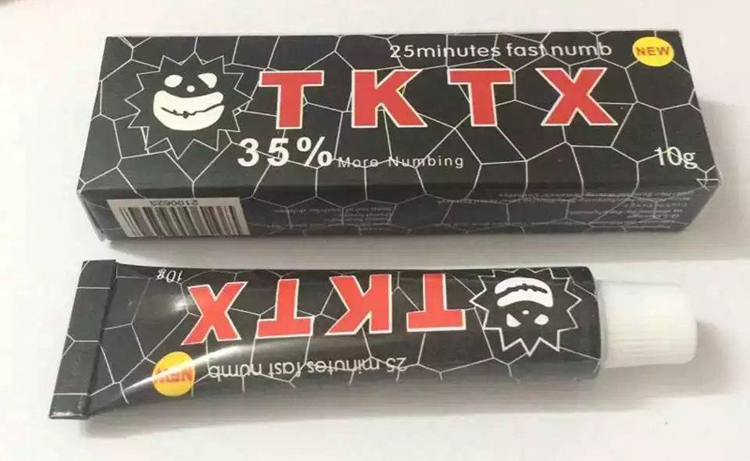 Tktx black 35 more numbing cream piercing permanent for Does numbing cream work for tattoos