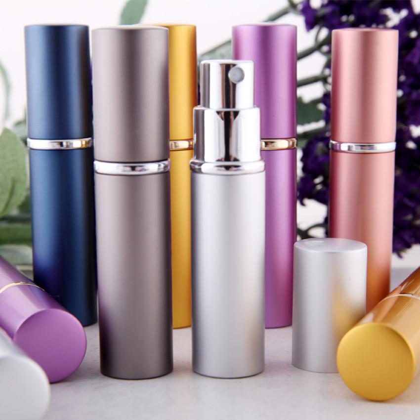 Travalo Refillable Travel Perfume Spray Bottle: 1pc Color Mini 5ml Metal Glass Refillable Perfume Bottle Travel Spray Atomizer C