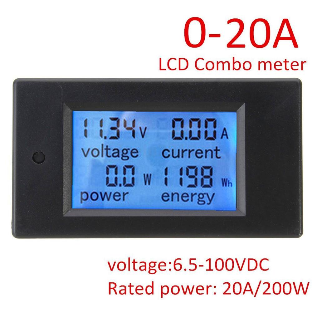 Lcd Panel Meter : A dc digital lcd power panel meter monitor energy