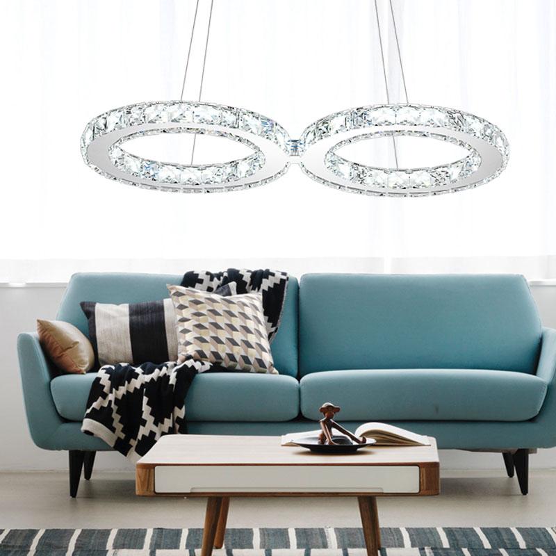 kristall led h ngeleuchte wohnzimmer deckenlampe. Black Bedroom Furniture Sets. Home Design Ideas