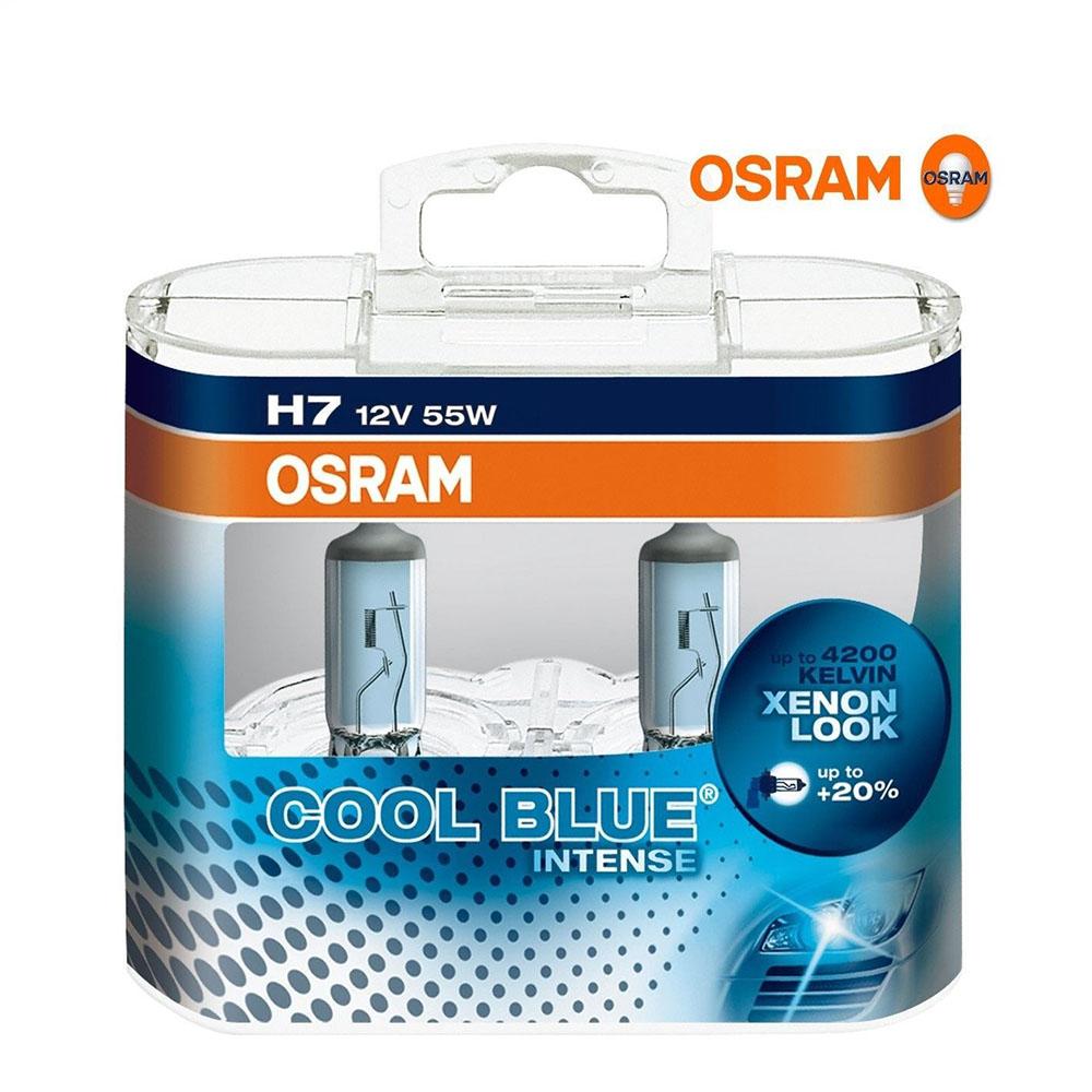 osram cool blue intense h7 halogen scheinwerferlampe. Black Bedroom Furniture Sets. Home Design Ideas