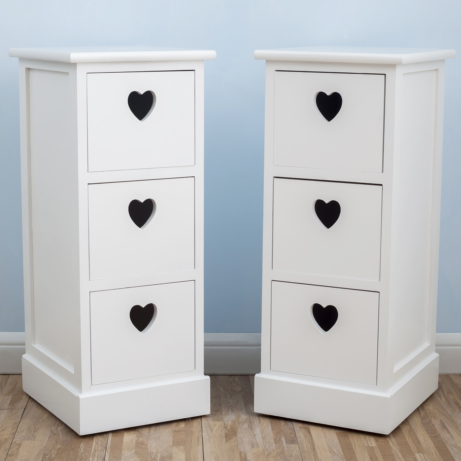 Uenjoy une paire de tables de chevet avec 3 tiroirs table - Table de chevet classique ...