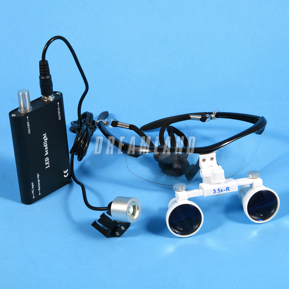 Dental Surgical 3 5x Binocular Magnifier Glasses Loupes