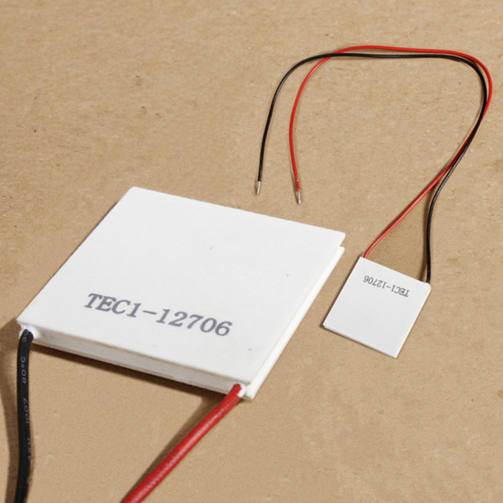 tec1 12706 heatsink thermoelectric cooler cooling peltier plate module 12v 60w ebay. Black Bedroom Furniture Sets. Home Design Ideas