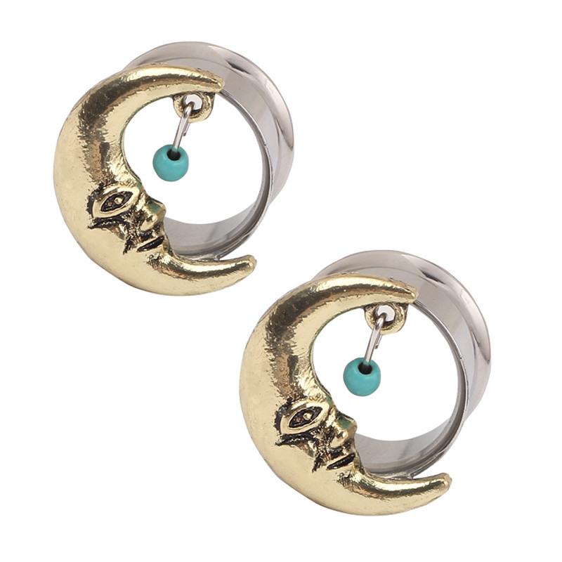 1 paire flesh tunnel turquoise ear plugs dangle oreilles piercing ecarteur ebay. Black Bedroom Furniture Sets. Home Design Ideas