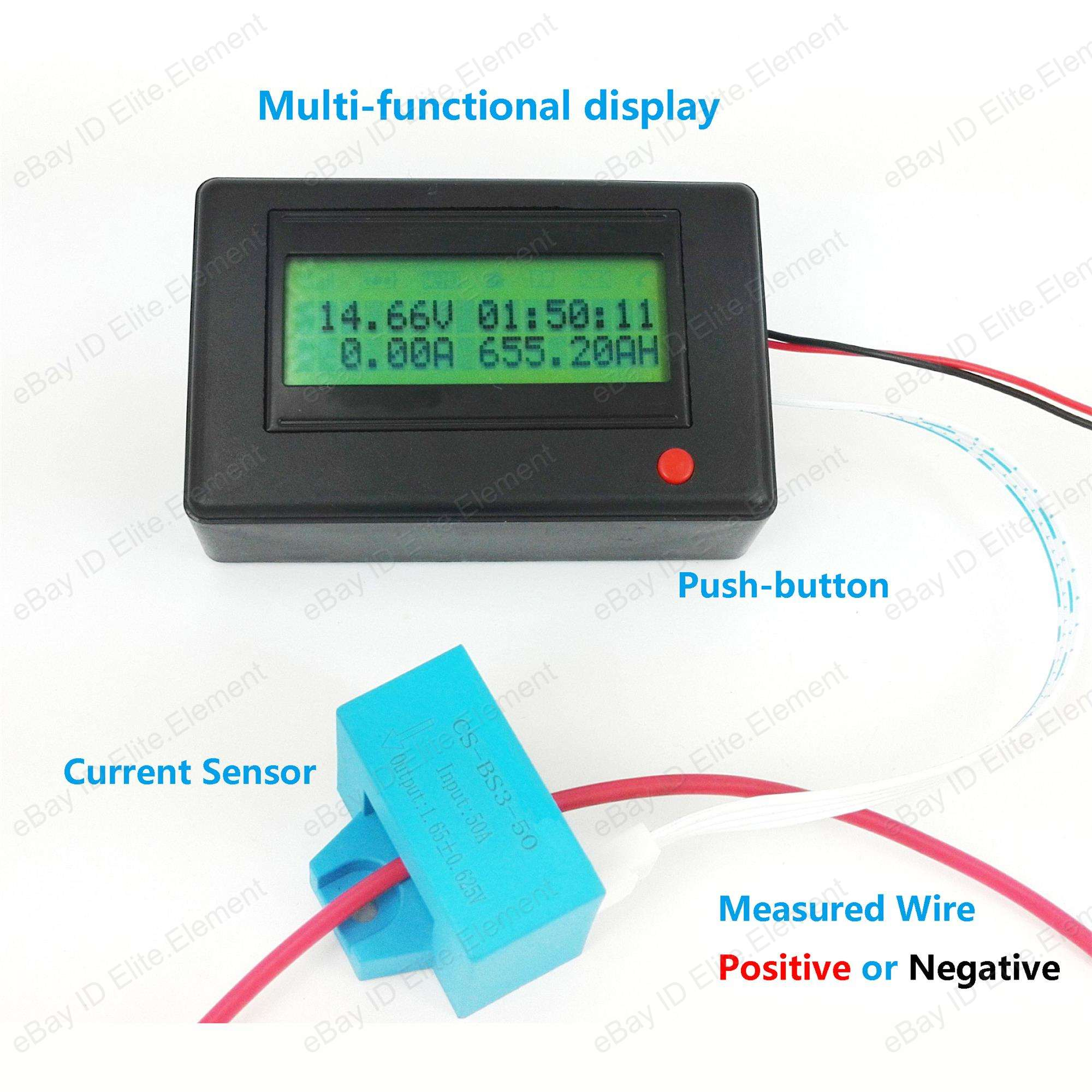 600 Amp Battery Charging System Monitor : Dc multimeter wireless bluetooth v a current sensor