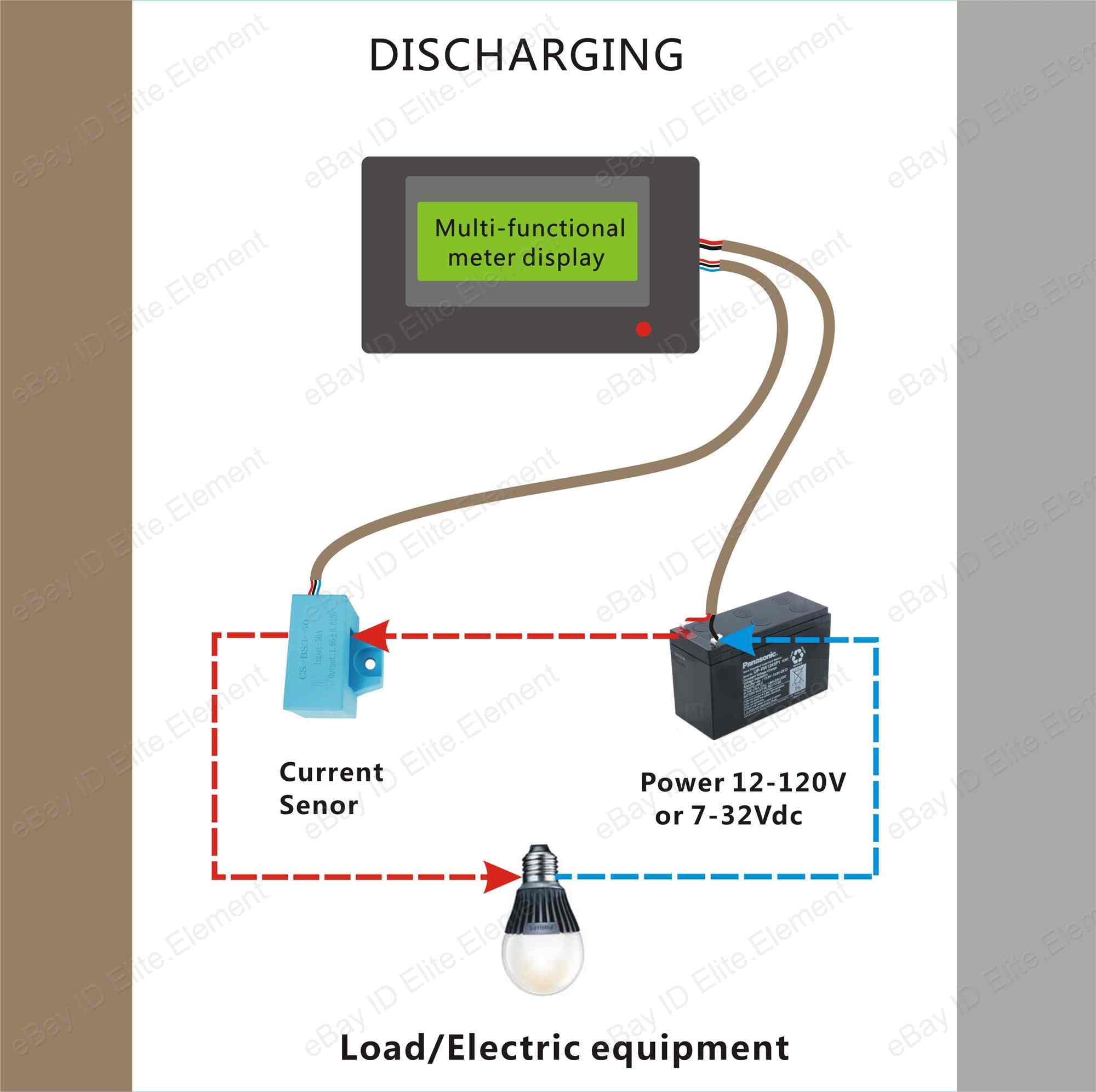 Aili Battery Voltage Tester Monitor 120v 100a Current Wiring Diagram Remaining Capacity With Sensor Elite Element
