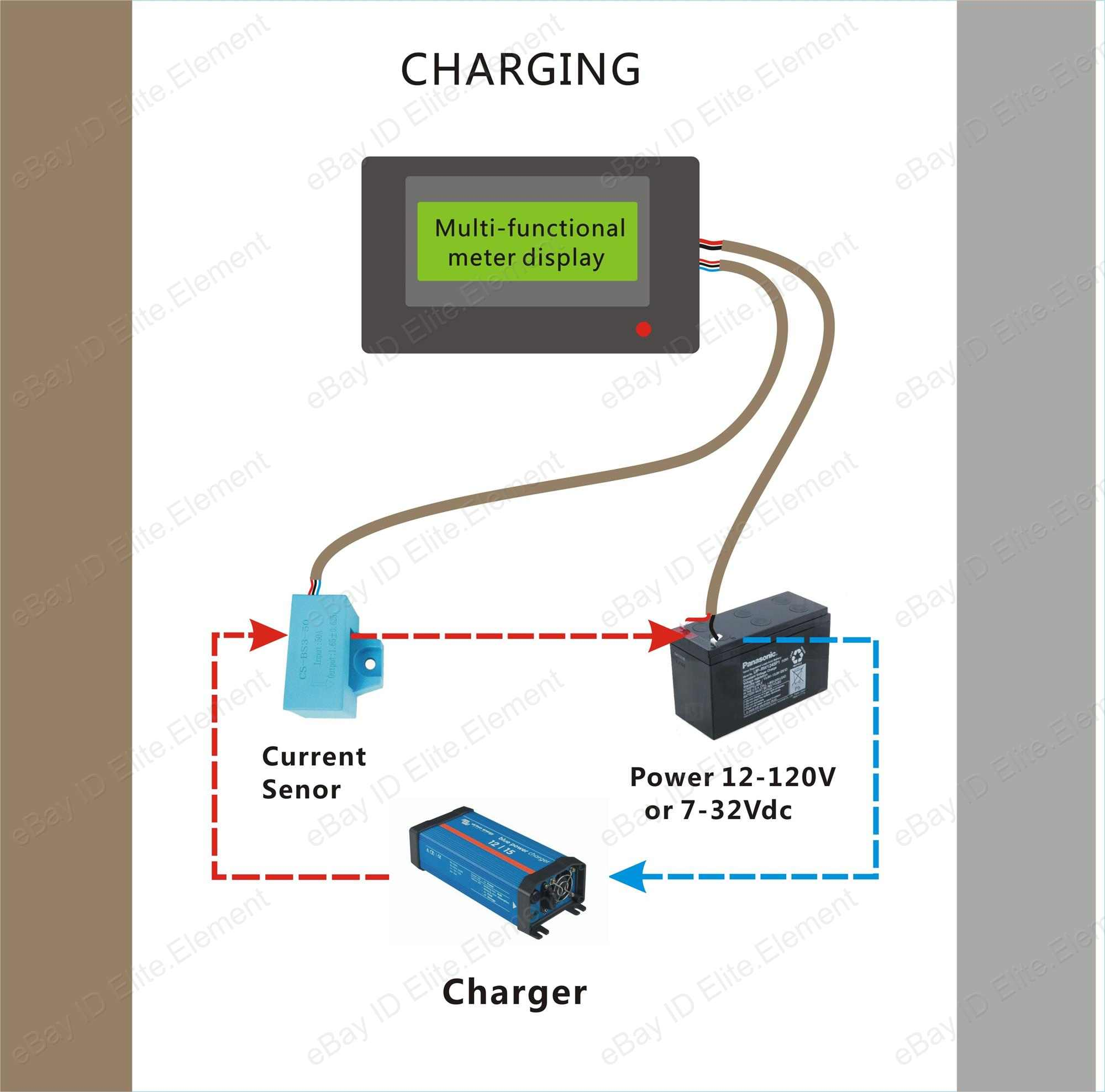 State Of Charge Battery Monitor : Battery monitor v a power watt ah state of charge