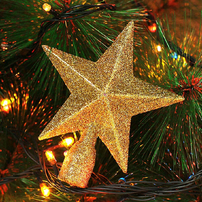 3d glitzer silber gold rot weihnachtsbaum top star for Weihnachtsbaum rot silber