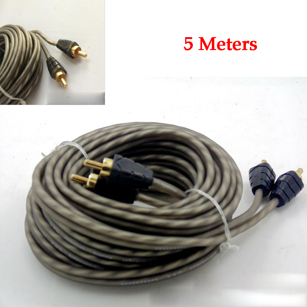 4 5m Car Audio Wire Rca Amplifier Subwoofer Cable Speaker Wiring